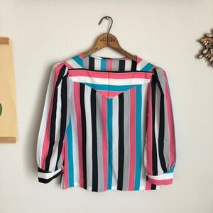 Vintage Striped Neopolitan Blouse